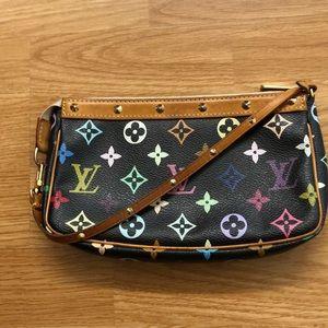 Louis Vuitton multicolored pochette bag